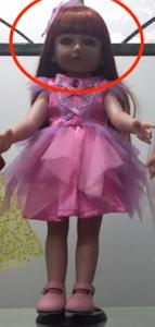 """Кукла серии """"Город Игр"""" 45 см с платьем, розовый-фиолетовый S"""