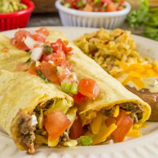 Easy and Cheesy Beef Burritos