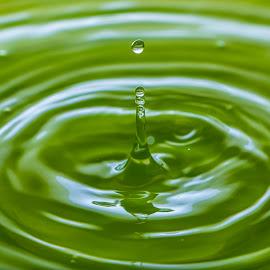 Drops by Laxminarayan Channa - Abstract Water Drops & Splashes