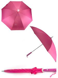 Зонт LED, с подсветкой, розовый