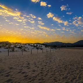 Sardinia sunset by Mattia Bonavida - Landscapes Sunsets & Sunrises ( clouds, sand, sky, bonavida, mattia, sardinia, sunset, colors, tourism, beach, landscape )