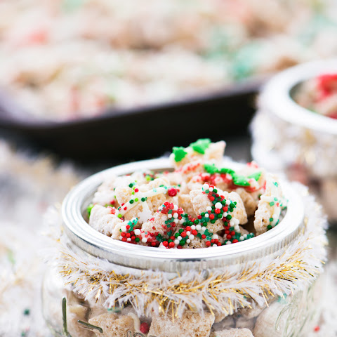Christmas Sugar Cookie Chex Party Mix