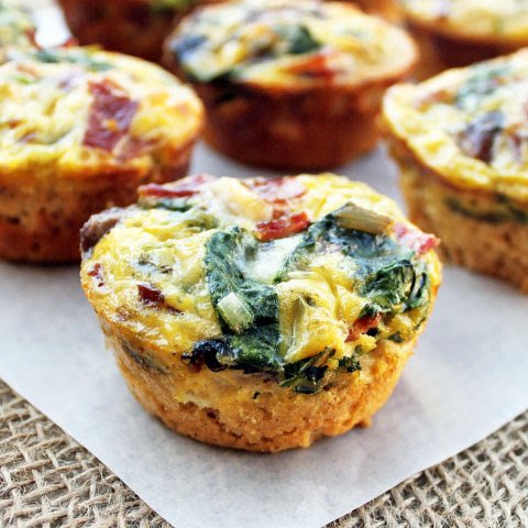 Spinach & Mushroom Quiche Cups