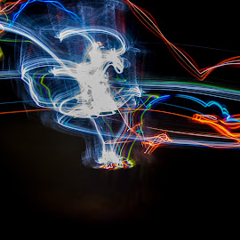 Night Disc Golf by William Rogers - Abstract Light Painting ( disc golf, light painting, led, frolf, long exposure, frisbee )