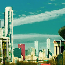 From the Road/Chicago by Marsha Sices - Buildings & Architecture Office Buildings & Hotels (  )