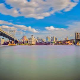 New York bridge  by Roman Gomez - City,  Street & Park  Skylines ( www.roman-photography.com )