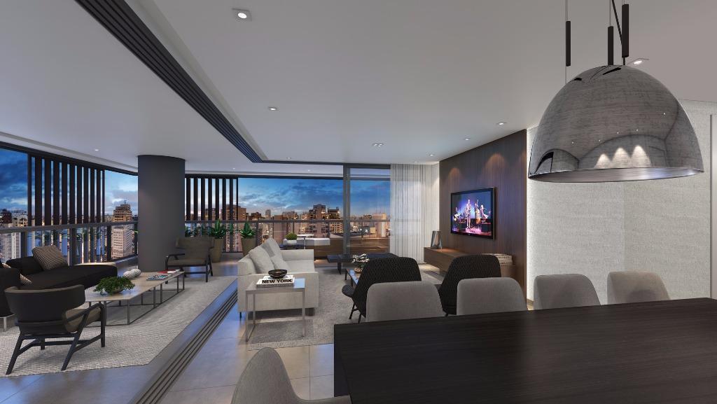Perspectiva do Living - Apto 243 m²