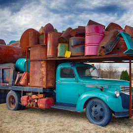 My Old Moving Truck by Max Molenaar - Transportation Automobiles ( cloud formations, truckd, hdr, cars, places )
