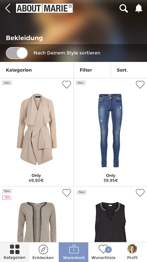 ABOUT YOU Mode Online Shop Screenshot 0
