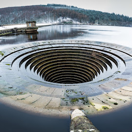Lady Bower Reservoir Plug Hole by Michael Payne - Buildings & Architecture Other Exteriors ( water, reservoir, lady bower, architecture, plug hole,  )