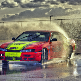 Drifting.... by Mike Ross - Sports & Fitness Motorsports ( skyline, learn2drift, track, rockingham, nissan,  )
