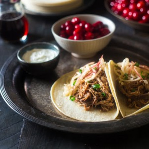 Cranberry, Apple and Chipotle Slow Cooker Pork Tenderloin Tacos