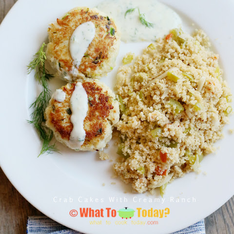 CRAB CAKES WITH CREAMY RANCH (8 crab cakes)