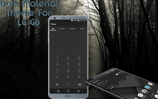 Dark Material Theme For LG G6 For PC