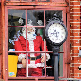 Time for Santa by Leah Zisserson - Public Holidays Christmas ( time, red, santa, store, christmas, virginia )