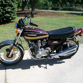 '75 Kawasaki Z1 900 by Karen Wiegold - Transportation Motorcycles (  )