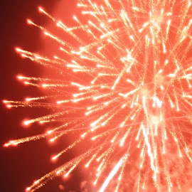 by Tricia Ellis - Abstract Fire & Fireworks