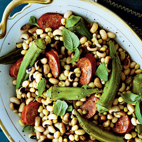 Field Peas with Okra and Andouille Sausage