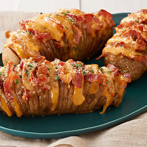 Cheesy Bacon Hasselback Potatoes