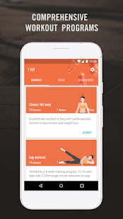 7 FIT - 7 Minute Workout Fitness app screenshot for Android
