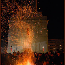 Christmas Eve by Jasminka Nadaskic Djordjevic - Public Holidays Christmas ( fire, night, flames )