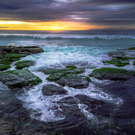 Halo by Matthew Wood - Landscapes Waterscapes ( clouds, sea, long exposure, ocean, sunrise, beach, rocks )
