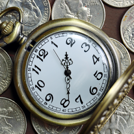 Quarters by Dipali S - Artistic Objects Business Objects ( minutes, second, clock, watch, coin, number, hour, coinage, investment, business, currency, hand, dime, timepiece, pocket, time, coins, american, cash, money, wealth, finance, dollar, gold, antique, quarter,  )