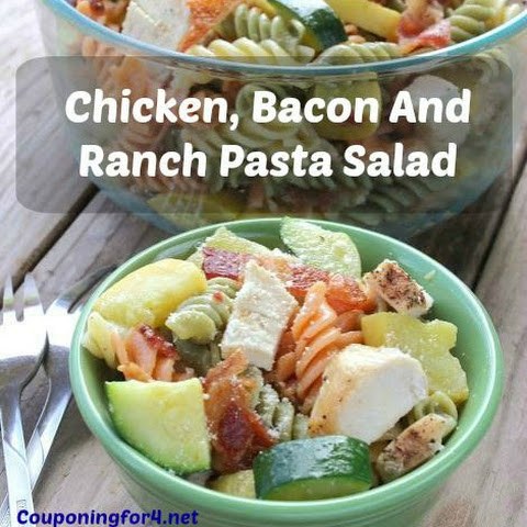 Chicken, Bacon and Ranch Pasta Salad