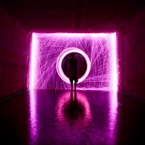 by Jordan Wangsgard - Abstract Fine Art ( walls, light painting, purple, steel wool, noctography, long exposure, nightography, burn, spark, fire )