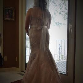 Contemplation by Lorna Littrell - Wedding Bride ( wedding photography, wedding day, wedding dress, bride )
