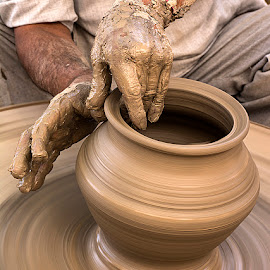 Clay Pottery by Rakesh Syal - Artistic Objects Cups, Plates & Utensils