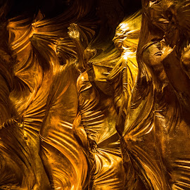 Wrapped Up by Mats Nordgren - Abstract Patterns ( las vegas, wall decor, art, dark, gold )