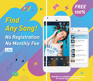 Free Music MP3 Player: Download MixerBox Lite APK for Bluestacks