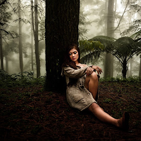 Lost in the jungle 4 by Joni Alir - People Portraits of Women
