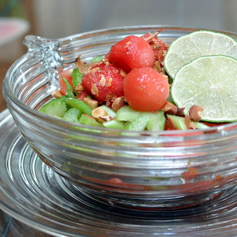 Watermelon & Celery Salad with Honey-Lime Vinaigrette ♥