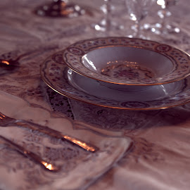 Place Setting  by Lorraine D.  Heaney - Artistic Objects Still Life