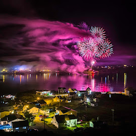 Fish Fun and Folk Festival - Twillingate NL 2014 by Julian Earle - Landscapes Travel ( water, newfoundland, canada, fireworks, festival, party, twillingate )