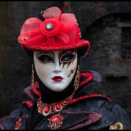 From the Series: Bruges Les Costumés de Venise by Fernand De Canne - People Street & Candids ( people )
