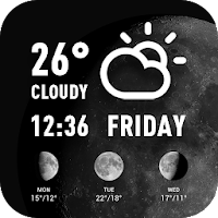 World weather widget& moon phrase information For PC Download / Windows 7.8.10 / MAC