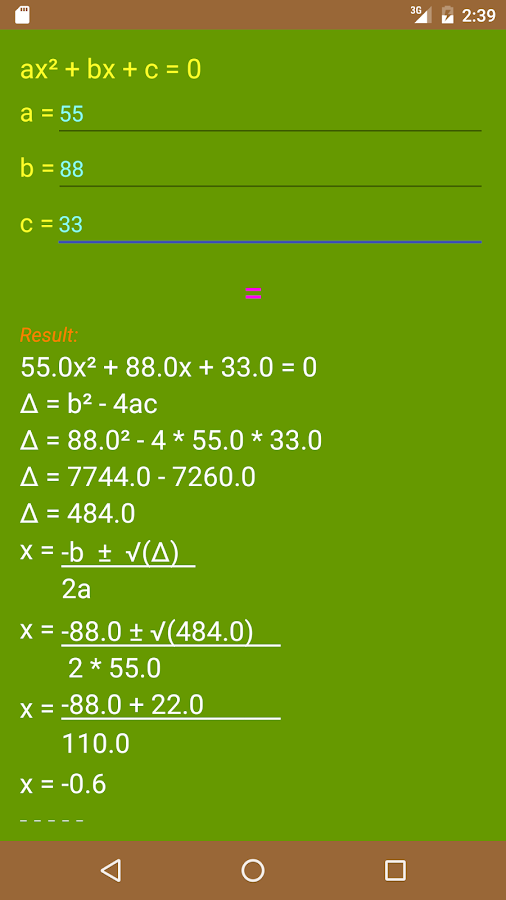 Calculator Board Screenshot 2