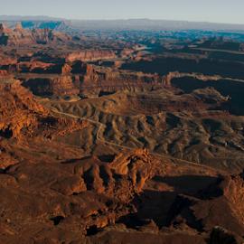 Desert landscape by Beverly Kilzer - Landscapes Deserts ( desert, park, canyonlands, grand, sunset, national, canyon, rock, scenery, scenic, dirt, landscape )