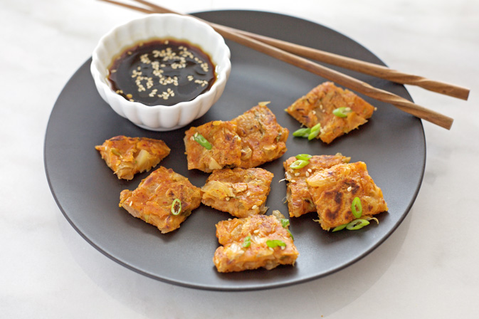 Kimchi Pancake with Soy Dipping Sauce Recipe | Yummly