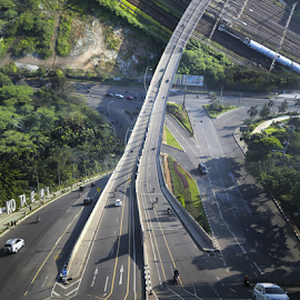 Summarecon Street Bridge by Oyi Kresnamurti - Digital Art Places ( droneception, mavic, drone, mavicpro, flatland, inception, digital )