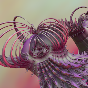 Be Weird by Glenda Popielarski - Illustration Abstract & Patterns ( m3d, purple, green, digital art, fractal art, mandelbulb 3d, raw fractal, pink, abstract artm, mb3d, fractals )