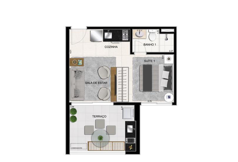 Planta Final 3 - 36 m²