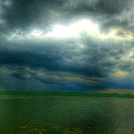 Stormy Lake by Zeralda La Grange - Instagram & Mobile iPhone ( #lake, #panoramic, #nature, #trees, #storm, #water, #hdr )