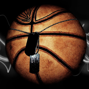 Basketball and DogTags by Jackson Visser - Digital Art Things ( basketball, dogtags, chain, sport, necklace )