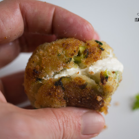 Zucchini Potato Balls With A Yummy Cheesy Heart!