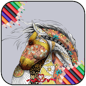Game Horse Color Book APK for Kindle