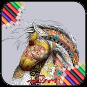 Horse Color Book APK for Bluestacks